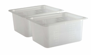 Mod Pans - 1/2 Food Pan with Lid - Retial Pack - 9 Qt (2 Ea)