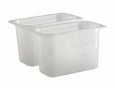 Mod Pans - 1/4 Food Pan with Lid - Retial Pack - 4 Qt (2 Ea)