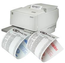 "3 1/8"" x 273'  (80mm x 83m)  NCR (2ST) Two Sided Thermal Paper  (25 rolls/case) - Black / Black"