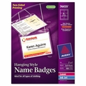 Neck Hanging-Style Flexible Badge Holders, Top Load, 3 x 4, White, (100 Name badge per box)
