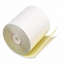 "Paper Rolls, Two-Ply Receipt Rolls, 3"" x 90 ft, White/Canary, 50/Carton"