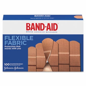 Flexible Fabric Adhesive Bandages,1 x 3, 100/Box