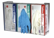 Plexiglass Triple Box Glove Dispenser
