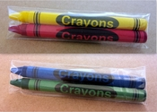 2-Pack Premium Cello Crayons (1000 packs/case)