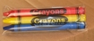 Premium 3 pack Crayons (180 packs per case)
