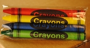 Premium 4 pack Crayons (500 packs per case)