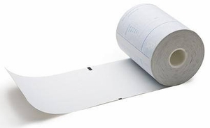 "4 3/8"" x 225'  (112mm x 69m)  Prescription Rx Security Thermal Paper  (12 rolls/case) - Indiana"