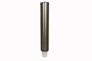 Pull-Type Foam Bev Cup Dispenser -32-46 Oz - Stainless Steel