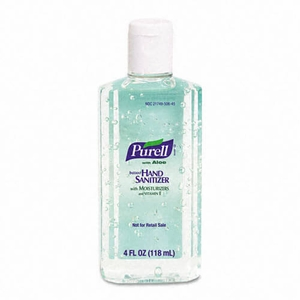 PURELL Hand Sanitizer with Aloe, 4 Ounce (24/4 oz. Bottles)