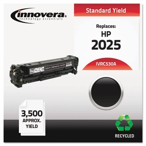 Remanufactured CC530A (304A) Toner, 3500 Yield, Black