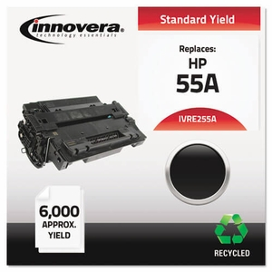 Remanufactured CE255A (55A) Laser Toner, 6000 Yield, Black
