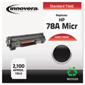 Remanufactured CE278A (78A) MICR Toner, 2100 Page-Yield, Black