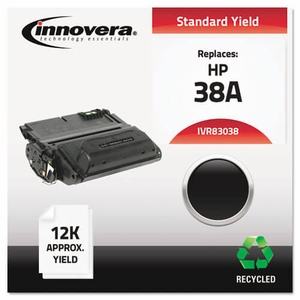 Remanufactured Q1338A (38A) Laser Toner, 12000 Yield, Black