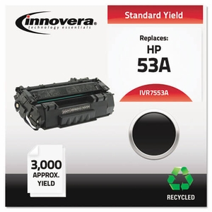 Remanufactured Q7553A (53A) Laser Toner, 3000 Yield, Black