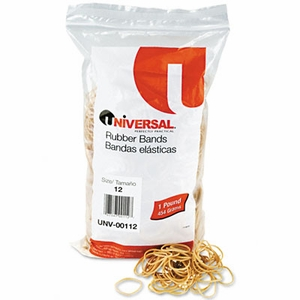 Rubber Bands, Size 12, 1-3/4 x 1/16, 2500 Bands/1lb Pack
