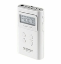 Sangean - Personal & Portable AM/FM Stereo Radio Pocket Size - White