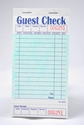 Single-Copy Cardboard Guest Checks (2,500 checks) - G3632
