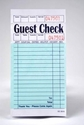 Single-Copy Paper Guest Checks (5,000 checks) - G3616