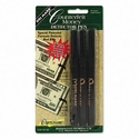 Smart Money Counterfeit Bill Detector Pen for use with U.S. Currency, 3/Pack
