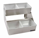 Stepped Center - Stepped w/Notched Lids - (4) 1 Qt w/Individual Notched Lids
