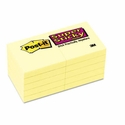 3M Super Sticky Notes, 2 x 2, Canary Yellow, 10 90-Sheet Pads/Pack