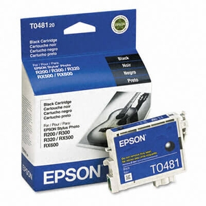 Epson T048120 Quick-Dry Ink, 450 Page-Yield - Black