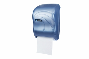 Tear-N-Dry Roll Towel Dispenser, Electronic Touchless, Oceans Blue