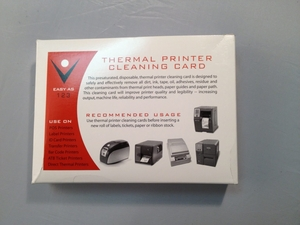 Thermal Printer Cleaning Cards 3-1/8 x 6 (25 / Box)
