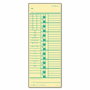 Time Card for Acroprint and Simplex, Weekly, Two-Sided, 3-1/2 x 9, 500/Box