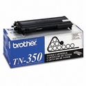 Brother TN350 Toner, 2500 Page-Yield, Black