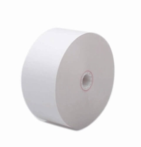 "Tranax Mini-Bank Machines  3 1/8"" x 1000'  ATM Heavyweight Thermal Receipt Paper  (8 rolls/case) - No Sensemarks"