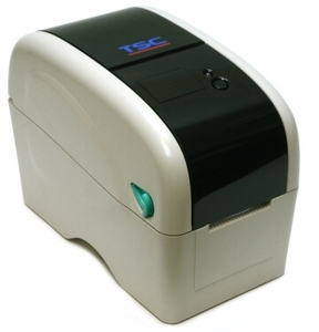 "TSC TTP-323 2"" wide Thermal Transfer Printer, 300 dpi, 3 ips (navy) includes real time clock, USB & Serial ports"
