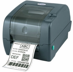 TSC TTP-345 Thermal Transfer Printer, 300 dpi, 5 ips, 3 ports - USB, Parallel, Serial with factory installed full cutter