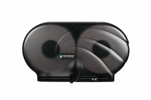 "Twin 9"" JBT Toilet Paper Dispenser Oceans - Black Pearl"