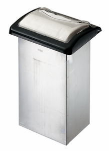 Venue In-Counter Napkin Dispenser - Fullfold - Clear/Black