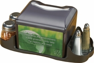 Venue Table Top Napkin Dispenser w/Caddy- Fullfold Face - Black Pearl