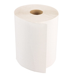 "WINDSOFT 8"" x 800' Bleached White Paper Towel Roll (12 rolls)"