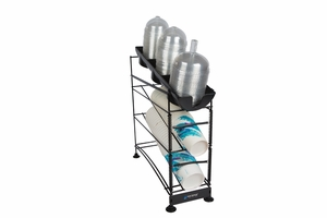 Wireworks 3 Tier Cup Dispenser w/Lid Tray & Side Panels