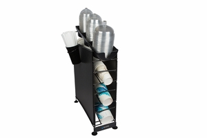 Wireworks 4 Tier Cup Dispenser w/Lid Tray & Side Panels