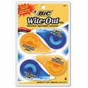 """Bic Wite-Out EZ Correct Correction Tape, Non-Refillable, 1/6"""" x 400"""", 4/Pack"""