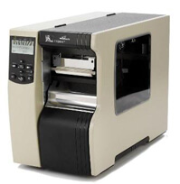 "Zebra 110Xi4 Industrial Label Printer - 4.09"" Print Width, 300 DPI, Rewind with Peel"