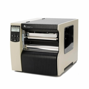 "Zebra 220Xi4 Industrial Label Printer - 8.5"" Print Width, 203 DPI, Rewind with Peel"