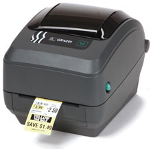 Zebra GK420 Healthcare with Thermal Transfer print mode, 10/100 Ethernet (replaces Parallel and Serial)