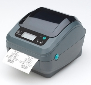 Zebra GX420d printer with Adjustable Black Line Sensor, Extended Memory and Real Time Clock