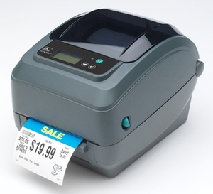 Zebra GX420t printer with 10/100 Ethernet (replaces parallel), Cutter, Adjustable Black Line Sensor, Real Time Clock