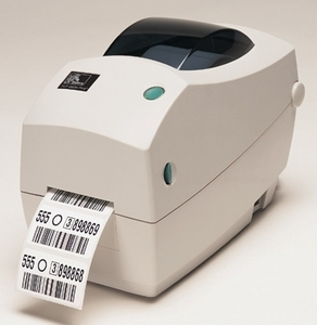Zebra TLP2824 Plus printer with USB, Serial, Cutter, Extended Memory and Real Time Clock