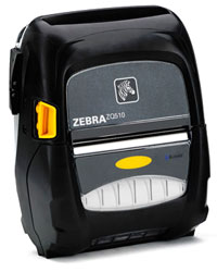 "Zebra ZQ510 Portable Label Printer (3""), Dual Radio, Active NFC, No Battery"