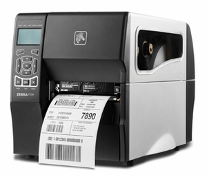 "Zebra ZT230 with Thermal Transfer, 4"" print width, 300 dpi, Peel + LTU, 10/100 Ethernet"