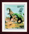 "Plateosaurus - Triassic Period - Framed 14"" x 17"""