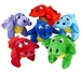 Green Red Orange Blue Purple Baby Dinosaur Plush Toys